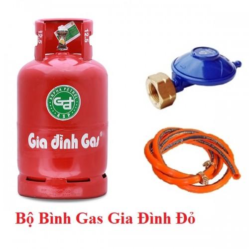 Bộ bình gas gia đình màu đỏ