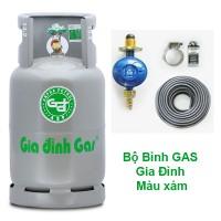 Bộ bình gas gia đình xám