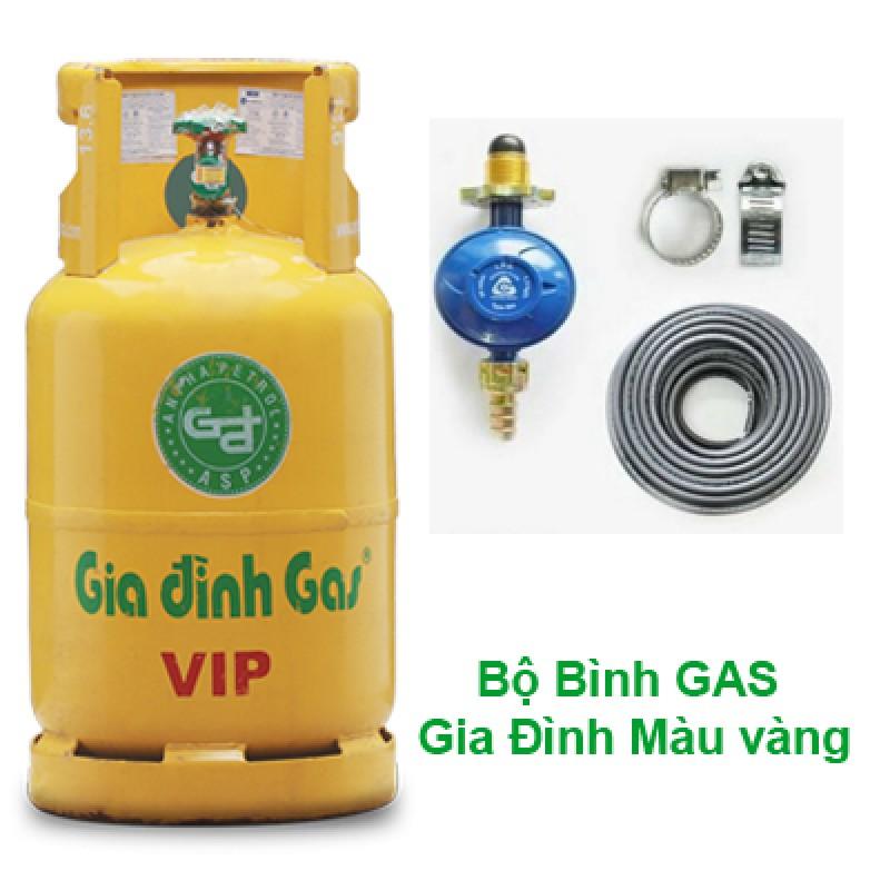 Bộ bình gas gia đình màu vàng